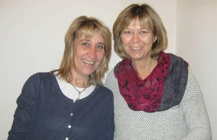 links Elisabeth Horn, rechts Brigitte Stief
